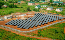 Image of one of the solar installations of the Nigerian Energizing Education Programme